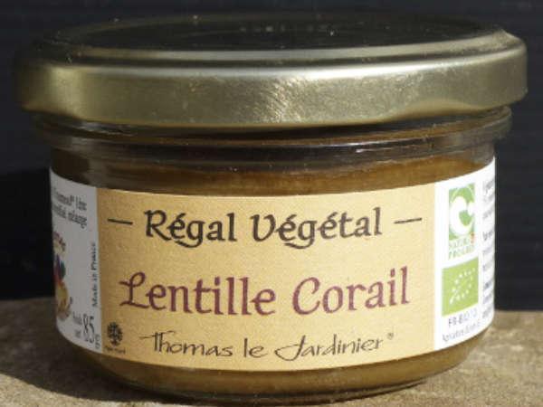 Pâté végétal lentilles corail