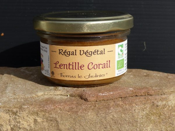 tartine'VG lentilles corail