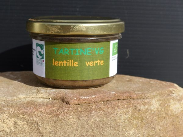 tartine'VG lentilles vertes