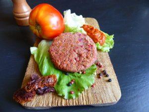 Burger au kasha et son ketchup